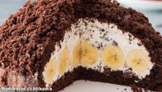 """""""This is a very moist cake that resembles the flavors you will find in a chocolate banana muffin but with a much lighter texture. Chocolate Banana Muffins, Chocolate Cake, Brownie Cake, Take The Cake, Moist Cakes, Bear Cakes, Cake Batter, Baked Goods, Cake Recipes"""
