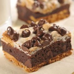 S'More Brownies Just Desserts, Delicious Desserts, Dessert Recipes, Yummy Food, Dessert Ideas, Yummy Recipes, Pudding Recipes, Yummy Yummy, Delish