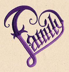 """Heart of the Family design (UT8587) from UrbanThreads.com 3.74""""w x 3.86""""h 28 September 2014"""