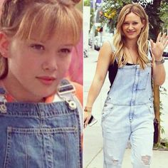 Hilary Duff is an outfit repeater! The former Disney starlet rocked the overall trend sweeping the nation just like her most famous alter ego, Lizzie McGuire, did back in the day. In honor of this incredible occasion, we've rounded up 5 more of Lizzie's outfits she should wear again!