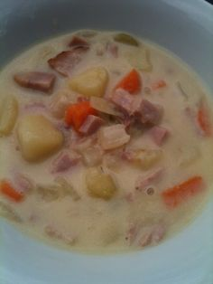 Ham, cheddar, cheese soup - easy winter crock pot dinner