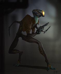 Stealthy Alien Bounty Hunter by GuthrieArtwork.deviantart.com on @deviantART