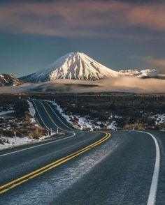 New Zealand. Mt Taranaki New Zealand Photo by Beautiful Roads, Beautiful Landscapes, Beautiful Places, Wonderful Places, Landscape Photography, Nature Photography, Travel Photography, Natur Wallpaper, Monte Fuji