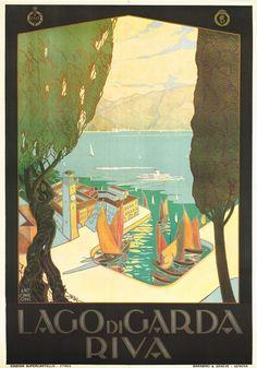 Lago di Garda - Riva - ENIT by Simeoni, Antonio | Shop original vintage Art Deco #posters online: www.internationalposter.com