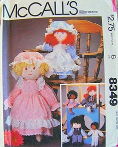 "McCall's 8349 Girl and Boy Rag Dolls in Two Sizes (13"" & 17½"") with Clothing, Sewing Pattern McCall's http://www.amazon.com/dp/B00BV97520/ref=cm_sw_r_pi_dp_dnQZwb1S7YJ6H"