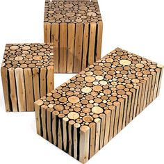 log furniture made modern