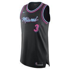 Dwyane Wade City Edition Authentic (Miami Heat) Mens Nike NBA Connected  Jersey Size 58 (Black) 3a8a07104
