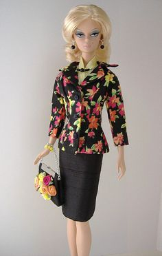 Handmade Suit for Silkstone Fashion Model Barbie ( Little Garments )