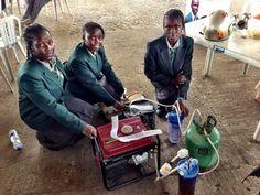 14-year-olds Duro-Aina Adebola, Akindele Abiola, Faleke Oluwatoyin, and 15-year-old Bello Eniola have created a urine powered generator.