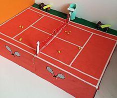 Tennisbaan -- een leuk knutselwerkje