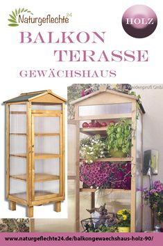 Gewächshaus jetzt bepflanzen Now is the time to make a new design for your balcony, terrace or garde Small Terrace, Terrace Garden, Garden Trees, Growing Plants, Growing Vegetables, Balcony Design, Balcony Ideas, Small Greenhouse, Home Economics