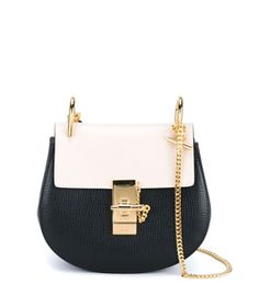 Chloe Mini Black & White 'Drew' Bag