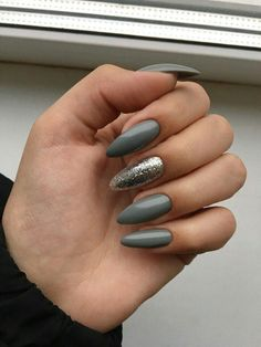 70 Fashionable Acrylic Almond Nail Designs For Girls To Try - Page 13 of 70 - Almond Nails Pretty Nail Colors, Pretty Nail Designs, Pretty Nails, Classy Nails, Cute Nails, Classy Almond Nails, Smart Nails, Hair And Nails, My Nails