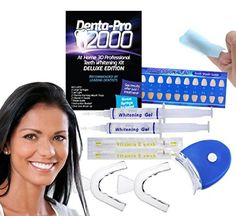 Denta-Pro 2000 Stay At Home 3-D Teeth Whitening Kit Deluxe Edition with Bonus Items Included * Find out more about the great product at the image link.