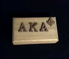 Alpha Kappa Alpha Wooden Box by LineupBoutique on Etsy