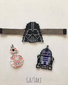 Star Wars Series #miyuki #miyukibeads #miyukijewelry #miyukibileklik #miyukibracelets #bracelet #handmade #handmadejewelry #design #jewellery #starwars #darthvader #robot
