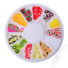 3D FIMO Clay Nail Art Decal - Winter Fruit