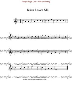 Flute Sheet Music for Beginners | Free Flute Sheet Music - Jesus Loves Me