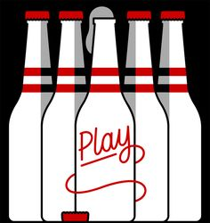 play Craig & Karl simple colourful illustration graphic design retro bottles