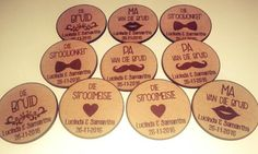 Laser cut wedding badges #lasercut #weddingbadges #myeienessie Wedding Badges, Wedding Pins, Wedding Trends, Wedding Details, Wood Badge, Laser Cutting, Ham, Coasters, Special Occasion