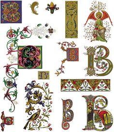 medieval scrollwork border - Google Search