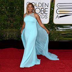 Light Blue Mermaid Beaded Celebrity Dresses with Watteau Train Golden Global Academy Awards 2017 Oscar Red Carpet Dresses OE14
