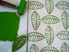 Hand-stamping fabric with a hand carved stamp, from Jeanne McGee. Her blog contains lots of how-to and design inspiration.
