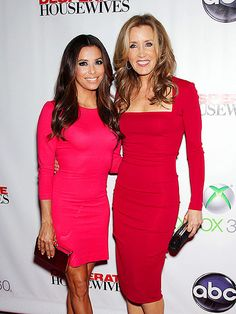 """Eva Longoria&Felicity Huffman At The """"Desperate Housewives"""" Wrap Party! Celebrity Outfits, Celebrity Style, Eva Longoria Style, Gabrielle Solis, Felicity Huffman, Desperate Housewives, Got The Look, Yes To The Dress, Love Fashion"""