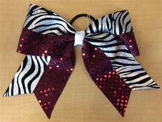 Silver Zebra and Maroon Bow