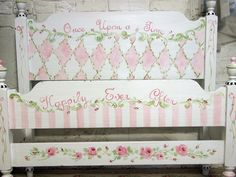 Painted Cottage Whimsey Hand Painted Twin Bed BD106