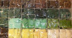 Matsuno glass bugle beads/Planet Earth