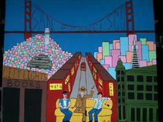 """San Francisco""  The Lonesome Traveler Series Acrylic on canvas H  20""  W 24"" for purchase contact JoeyCalveri@gmail.com"