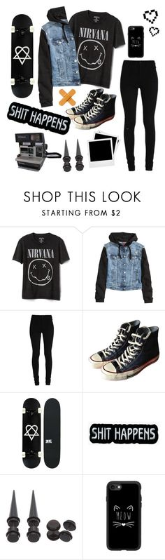 """Untitled #10"" by killixgstalking ❤ liked on Polyvore featuring Gap, H&M, Converse, Polaroid, Hot Topic, Casetify, Retrò, men's fashion and menswear"