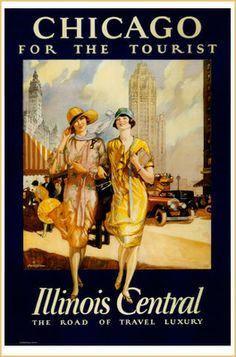 1000 images about vintage us travel posters on pinterest for Vintage chicago posters