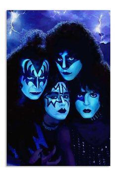 Creatures of the night! Paul Stanley, Gene Simmons, Pop Rock, Rock N Roll, Eric Singer, Kiss World, Kiss Members, Eric Carr, Vintage Kiss