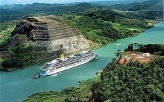 Going through the Panama Canal on a cruise