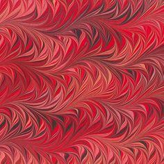 Crepaldi Marbled Paper - Wine and Rose Waved Chevron (1/2 sheet)