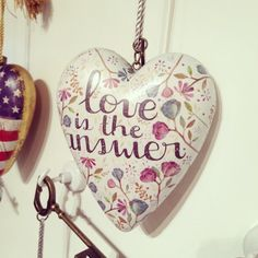 Love Is the Answer - Art Hearts from Studio by DEMDACO.  (artist Ana Victoria Calderón)  #hearts