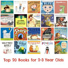 Top 20 Books for 2-3 Year Olds #bedtimereading #books #toddlers