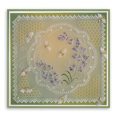Groovi Plate - Linda Bumble Bee Circle - A fantastic collection of Groovi Plate Linda Bumble Bee Circle from The Art of Craft in our papercraft, knitting and craft store. Parchment Design, Parchment Cards, Bee Cards, Adult Crafts, Craft Shop, Card Making Inspiration, Paper Cards, Crochet Crafts, Hobbies And Crafts