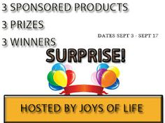 FREE Blogger's Sign up for a Surprise Giveaway – August 28 to September 2