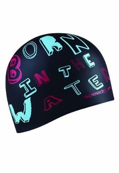 Speedo Born in the Water Silicone Swim Cap, Black by Speedo, http://www.amazon.com/dp/B008MVAM02/ref=cm_sw_r_pi_dp_0JFnsb1R043EK