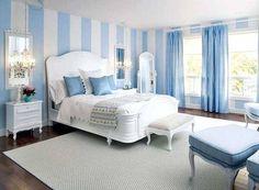 Mavi Tonları İle Yatak Odası Dekorasyonu
