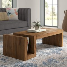 Caspar Coffee Table - Furniture and design - - Wood Coffee Table - Wood Coffee Table Furniture, Centre Table Living Room, Center Table Living Room, Centre Table Design, Coffee Table Furniture, Wooden Coffee Table Designs, Diy Coffee Table, Wood Table Design, Living Room Table