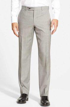 Ted Baker London 'Jefferson' Flat Front Wool Trousers