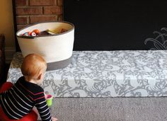 diy padded hearth cover for baby proofing: