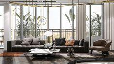 Penthouse Art Deco modern, Asmita Gardens, București - Creativ-Interior Art Deco, Gardens, Concept, Curtains, Creative, Modern, Room, Furniture, Design