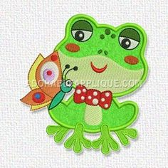 Free Embroidery Design:  Frog