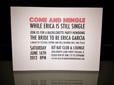 fun bachelorette invites