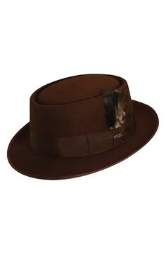 8404668cc01 Scala Wool Felt Porkpie Hat available at  Nordstrom Men s Hats